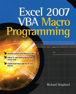 Excel VBA Macro Programming Richard Shepherd