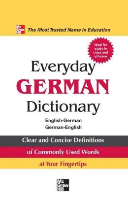 Everyday German Dictionary