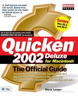 Quicken 2002 Deluxe For Macintosh