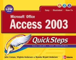 Microsoft Office Access 2003 QuickSteps