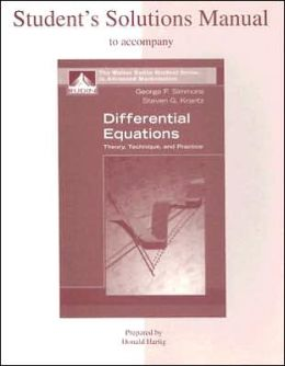 Student's Solutions Manual to accompany Differential Equations: Theory, Technique and Practice