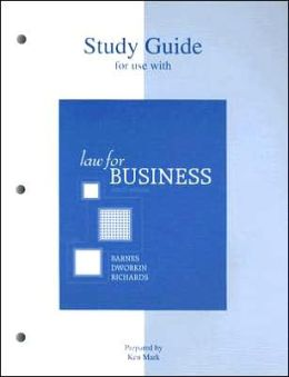 Study Guide for Use with Law for Business