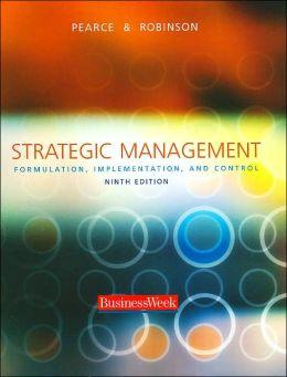Strategic Management: Formulation, Implementation, and Control