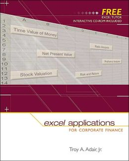 Excel Applications for Corporate Finance with Excel Tutor