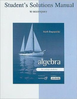 Student's Solutions Manual for with Algebra for College Students