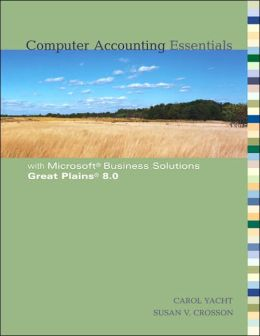 Computer Accounting Essentials with Great Plains 8.0 CD