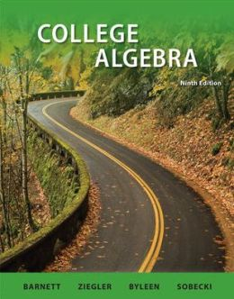 Student Solutions Manual College Algebra