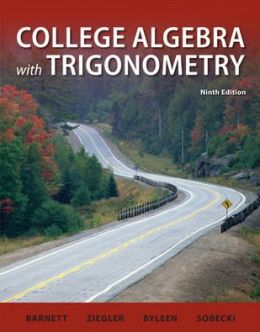 Student Solutions Manual College Algebra with Trigonometry