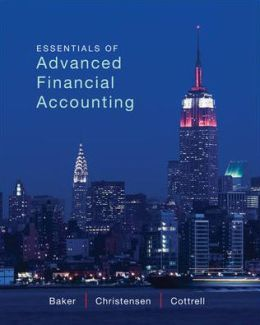 Essentials of Advanced Financial Accounting with Connect Plus