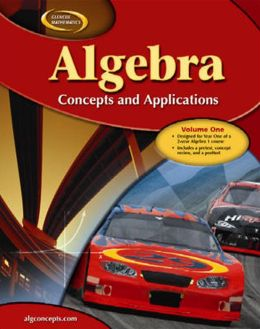Algebra: Concepts and Applications, Volume 1, Student Edition