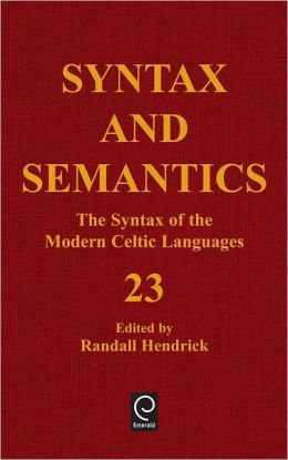 Syntax And Semantics, Volume 23 Cth