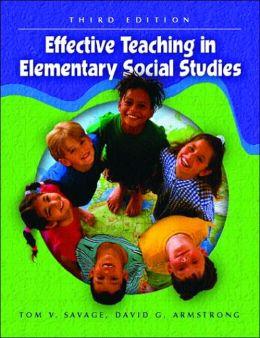 Effective Teaching in Elementary Social Studies