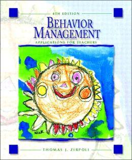 Behavior Management : Applications for Teachers