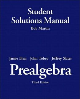 Student Solutions Manual-Standalone for Prealgebra