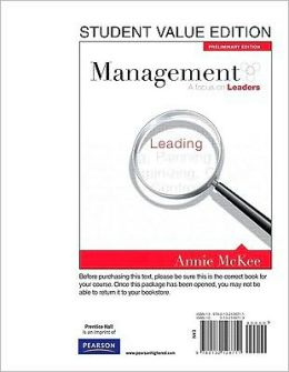 Management: A Focus on Leaders, Preliminary Edition, Student Value Edition