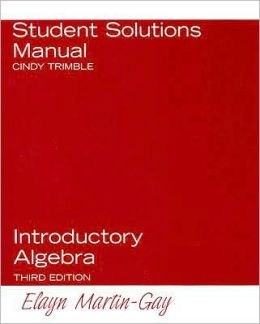 Introductory Algebra Student Solutions Manual