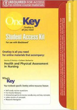 OneKey Blackboard with MyPhysicalAssessmentLab, Student Access Kit, Health & Physical Assessment in Nursing for Health & Physical Assessment in Nursing