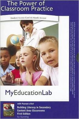 MyEducationLab with Pearson eText -- Access Card -- for Building Literacy in Secondary Content Area Class