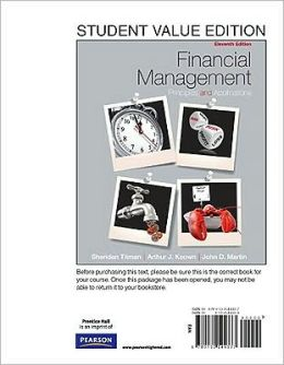 Financial Management: Principles and Applications, Student Value Edition