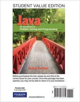 Student Value Edition for Java: An Introduction to Problem Solving and Programming