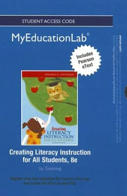 NEW MyEducationLab with Pearson eText -- Standalone Access Card -- for Creating Literacy Instruction for All Students