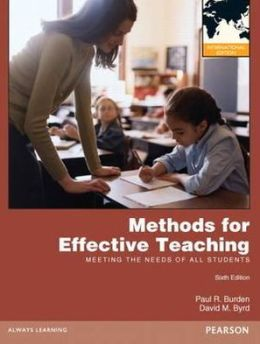 Methods for Effective Teaching: Meeting the Needs of All Students Pie No Us Sale