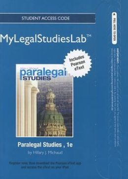 NEW MyLegalStudiesLab and Virtual Law Office Experience with Pearson eText -- Access Card -- for Paralegal Studies