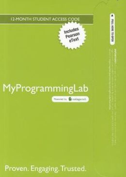 MyProgrammingLab with Pearson eText -- Access Card -- for Introduction to Programming Using Python
