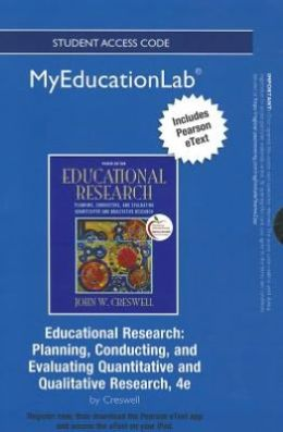 NEW MyEducationLab with Pearson eText -- Standalone Access Card -- for Educational Research: Planning, Conducting, and Evaluating Quantitative and Qualitative Research