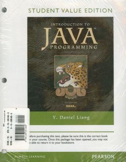 Introduction to Java Programming, Comprehensive Version, Student Value Plus MyProgrammingLab with Pearson eText -- Access Card Package