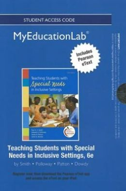 NEW MyEducationLab with Pearson eText -- Standalone Access Card -- for Teaching Students with Special Needs in Inclusive Settings