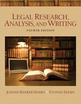 Legal Research, Analysis, and Writing Plus NEW MyLegalStudiesLab Virtual Law Office Experience with Pearson eText