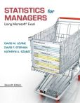 Book Cover Image. Title: Statistics for Managers Using Microsoft Excel, Author: David M. Levine