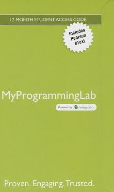 MyProgrammingLab with Pearson eText -- Access Code Card -- for Starting Out With Visual Basic