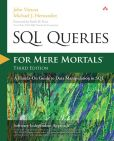 Book Cover Image. Title: SQL Queries for Mere Mortals:  A Hands-On Guide to Data Manipulation in SQL, Author: John Viescas