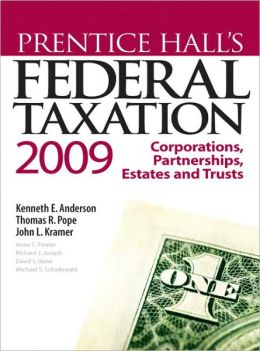 Prentice Hall's Federal Taxation 2009: Corporations
