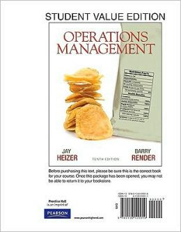 Operations Management, Student Value Edition