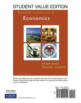 Essential Foundations of Economics, Student Value Edition