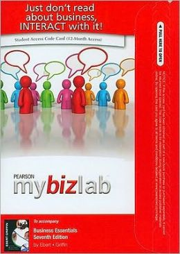 MyBizLab with Pearson eText Student Access Code Card for Business Essentials