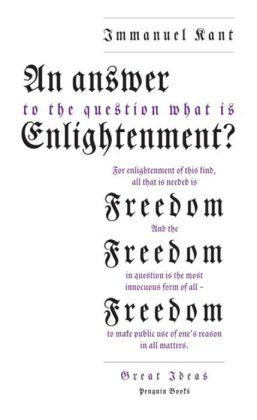 Great Ideas An Answer To The Question: What Is Enlightenment?