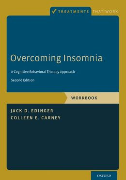 Cognitive behavioral therapy for insomnia book