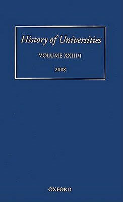 History of Universities: Volume XXIII/1: Volume XXIII/1
