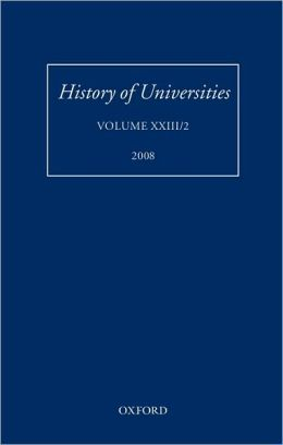 History of Universities: Volume XXIII/2