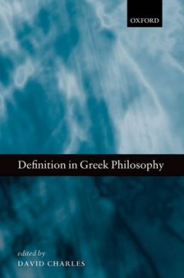 Definition in Greek Philosophy