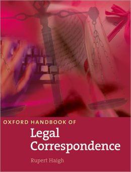 Oxford Handbook of Legal Correspondence: Student Book