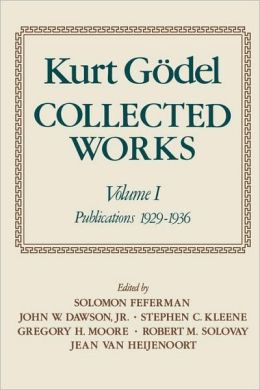Collected Works: Volume I: Publications 1929-1936