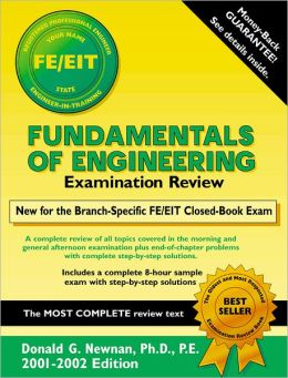Fundamentals of Engineering Examination Review, 2001-2002