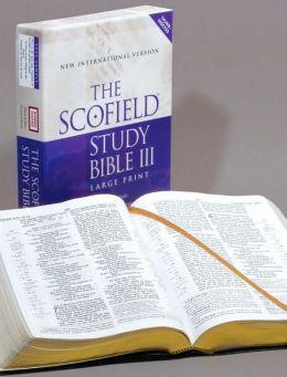 Scofieldi'A Study Bible III, Large Print, NIV