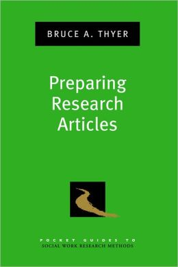 Preparing Research Articles