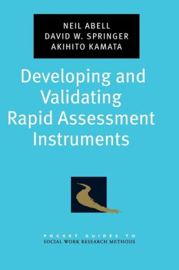 Developing and Validating Rapid Assessment Instruments